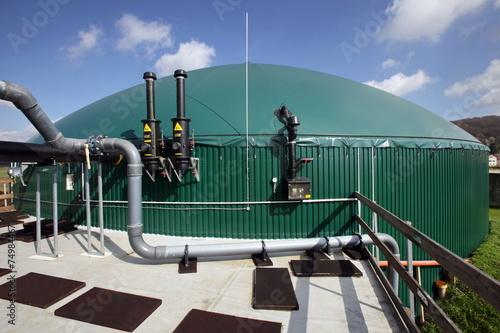 Leinwanddruck Bild Biogasanlage