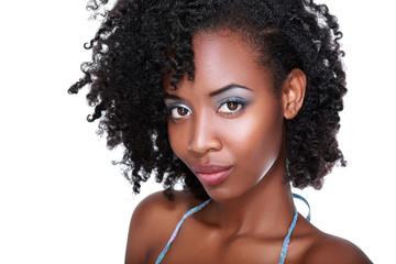 black woman face