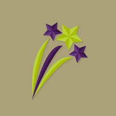 Festive Stars Flat Icon