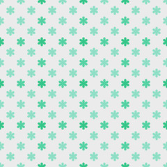 Vector Background # Asterisk Dot Pattern, Mint Green