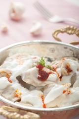 Pelmeni and Yogurt