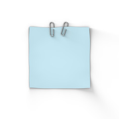 Blank Blue Adhesive Paper Note
