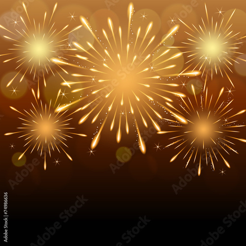 Zdjęcia na płótnie, fototapety, obrazy : fireworks background