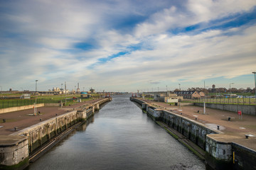 Sluice in IJmuiden, Netherlands