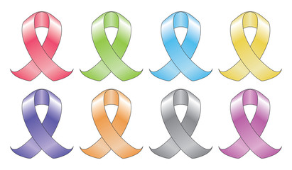 Ribbons In Eight Colors