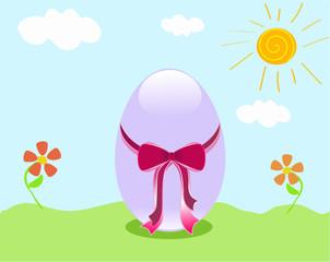 Uovo di Paqua su prato