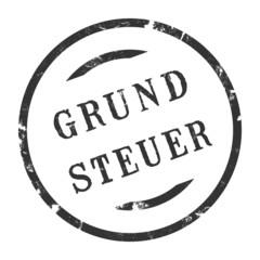sk224 - StempelGrafik Rund - Grundsteuer - g2712