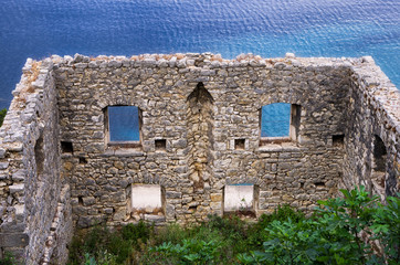 Old and ruined house, in Ithaca island, Greece