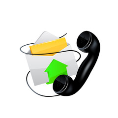 Vector icon. E-mail and phone