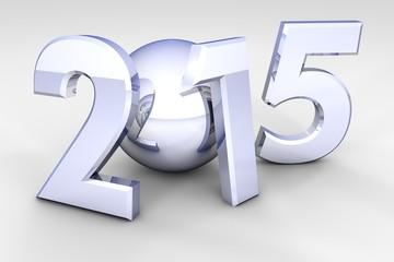 The new 2015 year in 3D