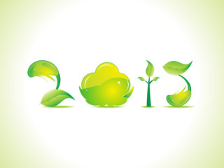 abstract eco based new year text