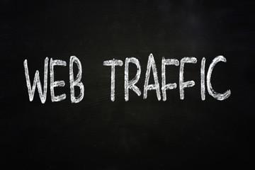 Web Traffic Internet Concept