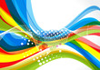 vector illustration colorful wave background