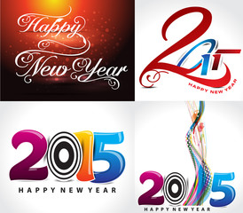 happy new year background set