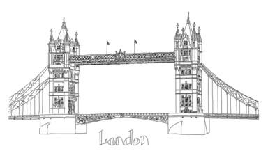 Vector illustration of Tower bridge, London