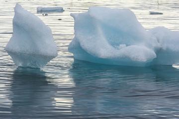 Icebergs in the Jokulsarlon Glacier Lagoon, Iceland