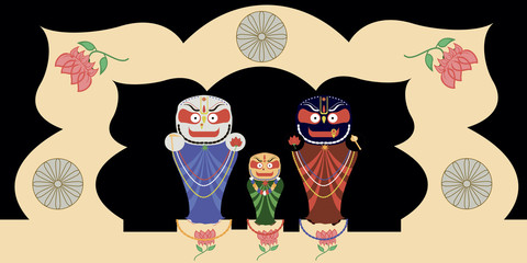Jagannath, Baladev and Subhadra