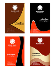 Collection abstract professional business cards
