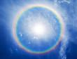 rainbow halo around the sun