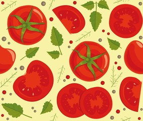 Seamless background with fresh tomatoes