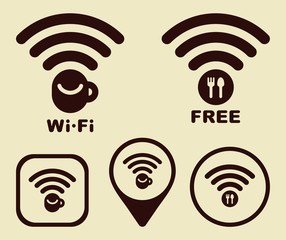 Wi-fi Icons for cafe and restaurants