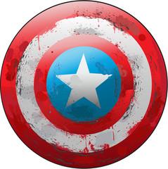 Grunge Captain Shield
