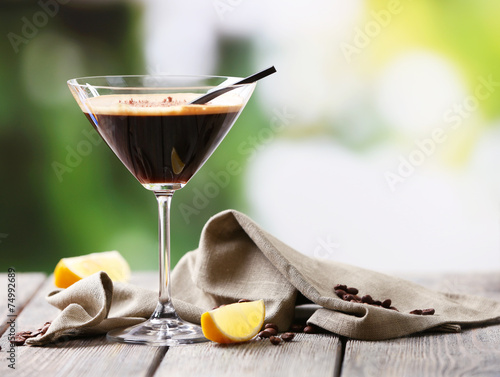 Fototapeta Espresso cocktail served on table