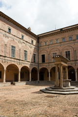Perugia - Benedictine abbey of Saint Pietro, cloister, Umbria