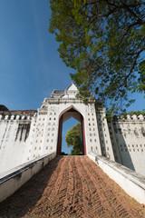 Door of Phra Narai Ratchanivet Palace at Lopburi, Thailand.