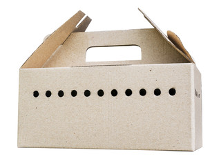 cardboard box with many holes for air ventilation