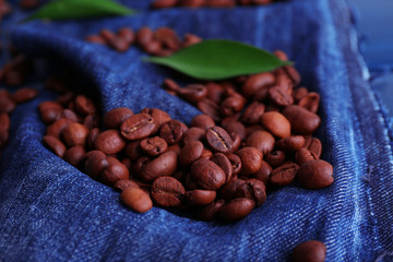 Green petals with coffee beans