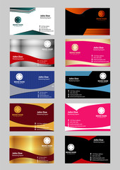Set of 10 professional horizontal business cards