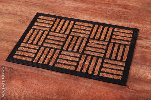 Brown carpet on floor close-up