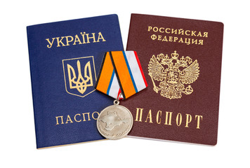Medal for the return of the Crimea in Russia