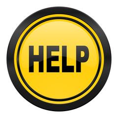 help icon, yellow logo
