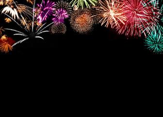Silvester Feuerwerk mit Textfreiraum