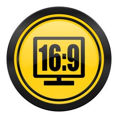16 9 display icon, yellow logo