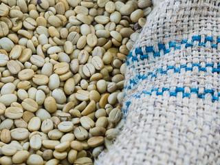 raw coffee ready to roast