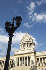 Havana Cuba Capitolio Building with Lamppost