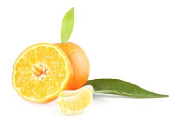 Tasty mandarins isolated on white