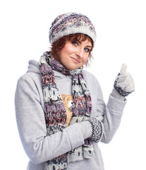 an image of girl in winter clothes