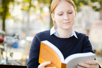 Businesswoman Reading for Leisure or Study