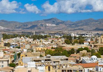 View from the Ledra Observatory in south Nicosia, Cyprus.
