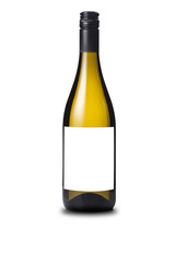 White wine bottle without label