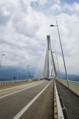 The cable bridge between Rio and Antirrio, Greece