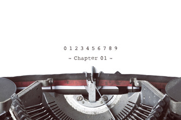 Vintage Typewrite Writing Book's Chapters.