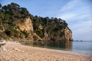 Beautiful little sandy beach near Parga, Greece
