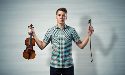 Musician with violin