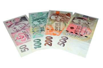 Czech crowns banknotes series