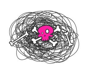 Halloween Skull Drawing
